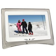 "7"" GoldLantern Widescreen Digital Photo Frame & MP3 Player (Whit"