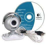 Logitech QuickCam Zoom USB Webcam w/Built-in Microphone (Silver)