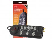 8 Outlet Power Surge Protector w/ Fax & Coaxial - 3150 Joules -