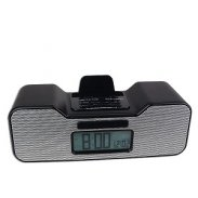 Fashionation Portable Alarm Clock Radio for iPod /Dock Connector