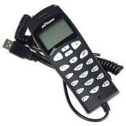 VoIP USB Travel Phone w/128MB - Skype Built-in -Store Files
