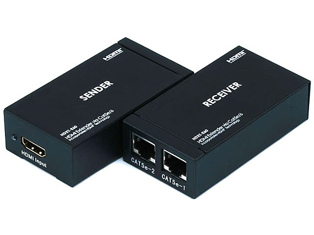 HDMI® Extender using Cat5e/CAT6 cable extending up to 196 ft