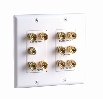 2-Gang 5.1 Surround Sound Distribution Wall Plate