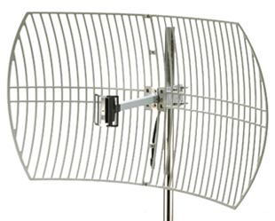 2.4GHz 24dBi Outdoor Grid Dish Antenna w/Cable