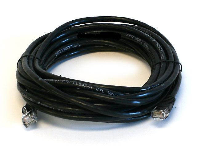 20FT Cat5e 350MHz Network RJ45 Network Cable - Black