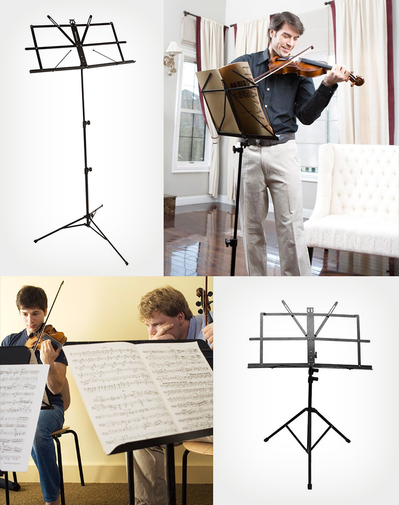 On Stage Sheet Music Stand Adjustable Foldable with Carrying Bag