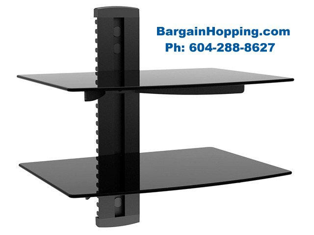 - 2 Tier Audio Video DVD Shelf Bracket