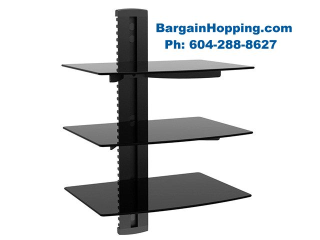 - 3 Tier Audio Video Component DVD Shelf Bracket