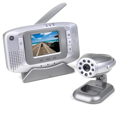 "GE Wireless Surveillance Camera Kit w/Portable 2.5"" LCD Monitor,"