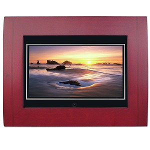 7'' TFT LCD Digital Photo Frame & MP3 Player (Wood)