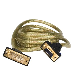 10' GoldX PlusSeries DVI-A(M) to VGA(M) Video Cable w/24K Gold
