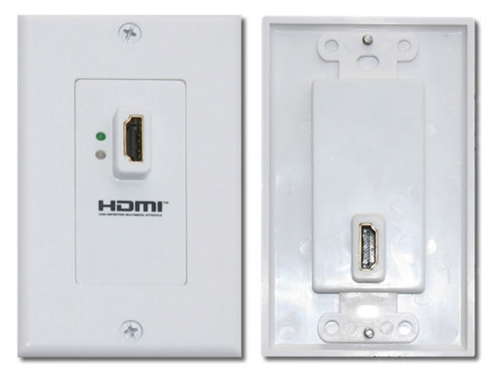 HDMI 1 port Wall Plate with Repeater