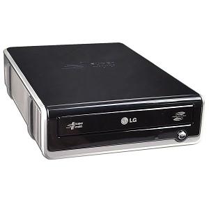 Black LG Electronics 20X USB Slim Lightscribe DVD+//-RW External Drive GE20LU11 Retail