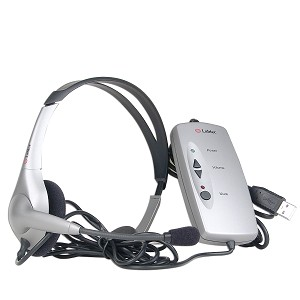 Labtec USB Digital Headset w/Boom Microphone & Volume Control