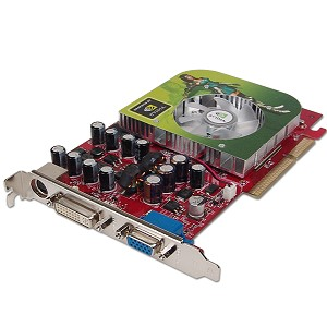 NVIDIA GeForce 6200 128MB DDR3 AGP Video Card w/DVI TV-Out