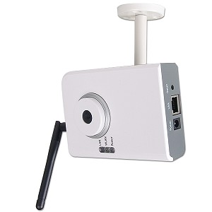Wireless 802.11b/g Compact MJPEG Internet Camera (White)