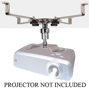 Projector Wall/Ceiling Mount Bracket (Silver/Chrome)