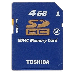 Toshiba 4GB High Speed SDHC Memory Card