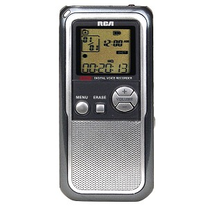 RCA 64MB Digital Voice Recorder - Enjoy up to 26 Hours of Digita