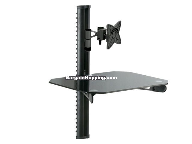 "*DVD Bracket With 10-25"" Tv Mount - Black"