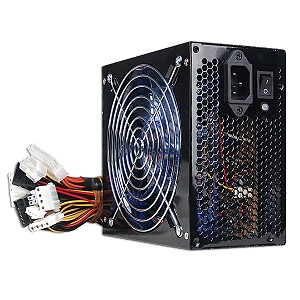 Echo Star 680W 20+4-pin Blue LED Fan ATX PSU w/SATA & PCIe (Blac
