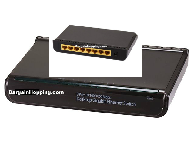 8 Port 10/100/1000 Mbps Desktop Gigabit Ethernet Switch