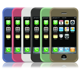 iPhone Silicone Case (Black,White,Blue,Pink,Grey)