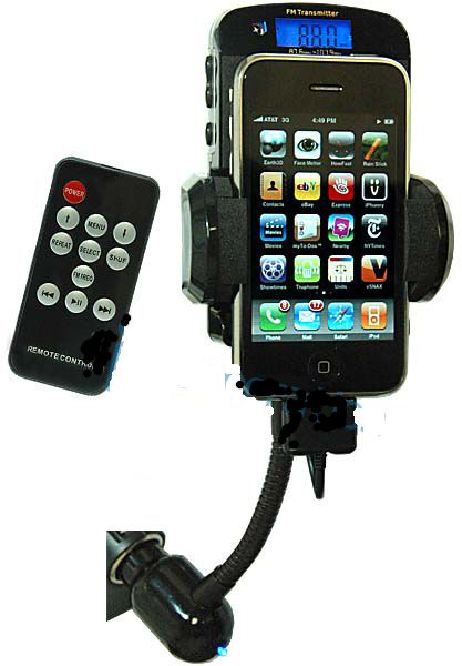 FM Transmitter** w/Charger/Dock/Remote for iPod/iPhone/iTouch