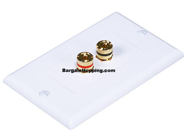 High Quality Banana Binding Post Two-Piece Inset Wall Plate for